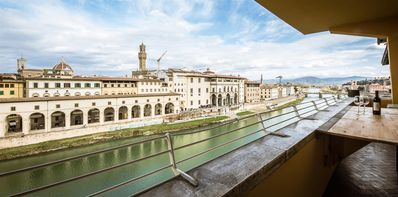 Photo for Ponte Vecchio Terrace, majestic apartment with breathtaking views 100 meters from Ponte Vecchio