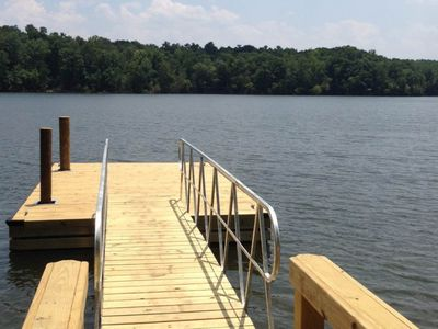 Photo for NEW LISTING! Lakefront, family-friendly home w/dock, swim ladder, outdoor shower