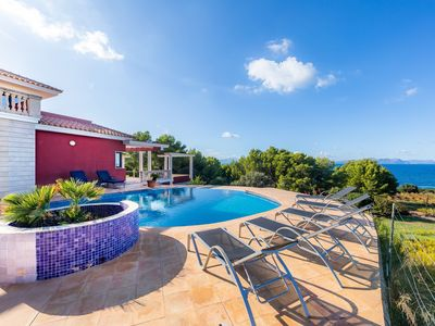 """Photo for Beautiful Holiday Home """"Alta Vista"""" with Panorama View, Infinity Pool, Terrace & Wi-Fi; Parking Available"""