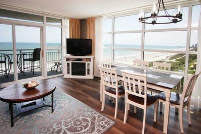 Beautiful Ocean views from every seat in the condo.