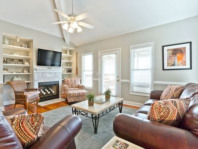 Photo for Pet-Friendly Three Story Town Home with Two Private Balconies, Only 1 Block to the Beach!