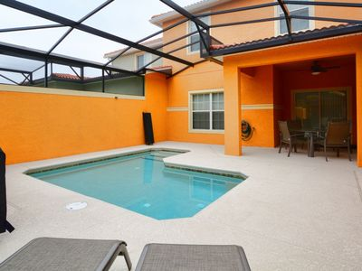 Photo for CLOSE TO CLUBHOUSE, SOUTH FACING POOL + BBQ GRILL, DISNEY THEME KID'S ROOM, FREE WIFI!