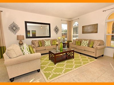 Photo for Watersong Resort 18 - Resort villa with private pool & game room - near Disney!