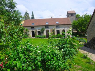 Photo for Period Farmhouse with Swimming Pool in a sunny stone built village