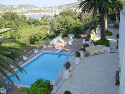 Photo for Villa with access to the sea, swimming pool, panoramic view of the islands of Naples