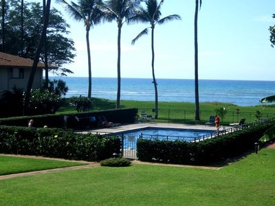 Photo for Waiohuli Beach Hale #B-205 Oceanfront Ocean View 1Bd/1Ba Great Rates Sleeps 4