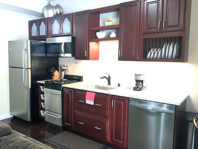 Photo for 5* Upscale PRIVATE- Kitchen- King-WiFi- Cable- W/D- 10 min Airport