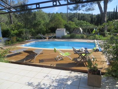 Photo for Villa T5 quiet pool near sea view terrace great panoramic hill clim