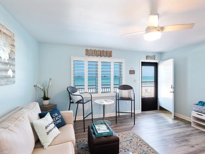 Photo for Newly Renovated Beachfront Condo with Amazing Sunsets from your Balcony!