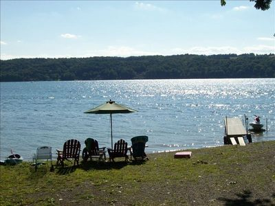 RELAX ON THE BEACH, Dock, chairs, umbrellas and fire pit.