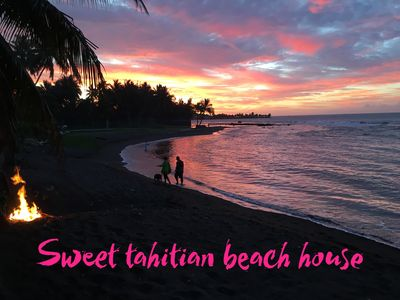Tahiti beach house, 3 bedrooms with AC, family friendly