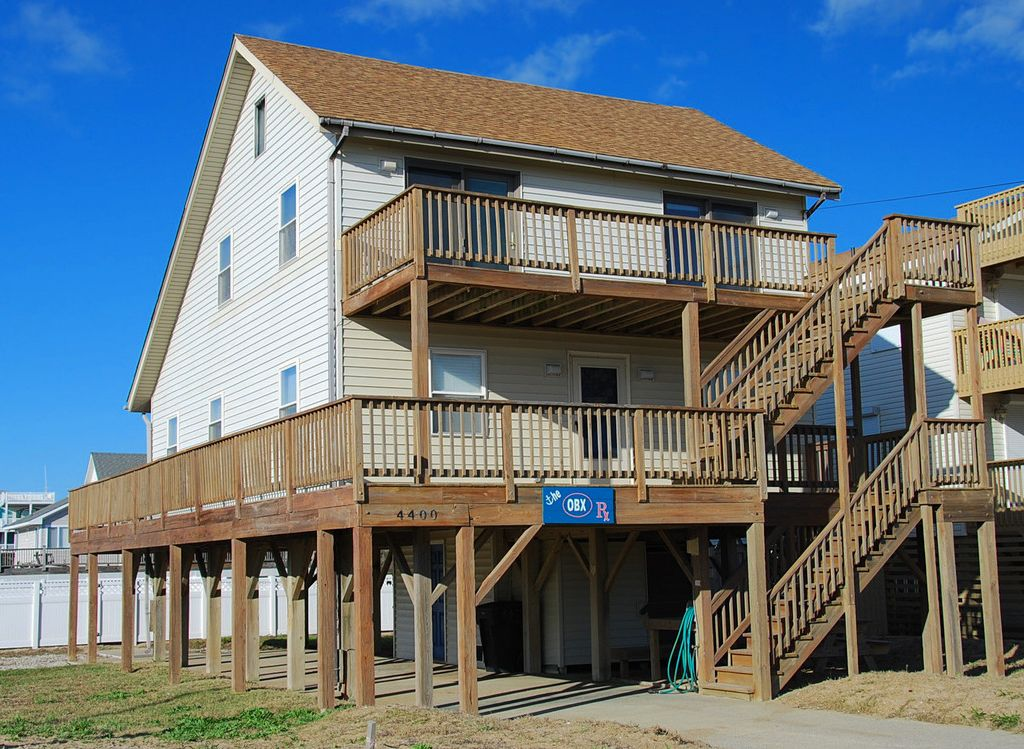 Kitty Hawk Home With Ocean Views From The Deck Pool Hot Tub And Beach Access Across Street
