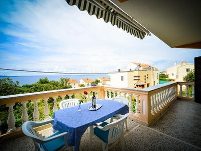 Photo for Two bedroom apartment with terrace and sea view Kožino (Zadar)