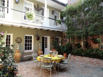 Dining, cocktails or coffee in the lush Courtyard
