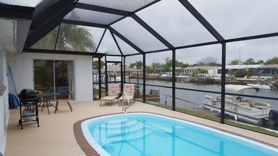 Photo for 2 bedroom house located on a canal with direct gulf access