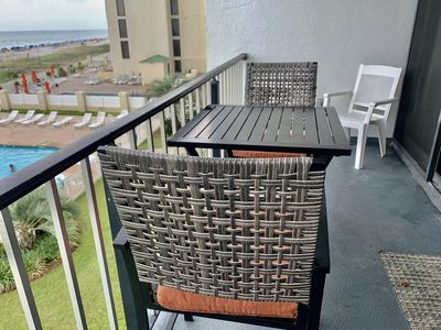 Enjoy sipping your morning coffee, or a glass of wine while taking in the beautiful views of the Gulf of Mexico!