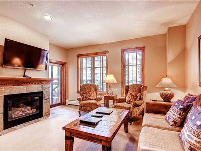Photo for Summer time mountain views, in town close to shopping and dining, on-site pool & hot tubs