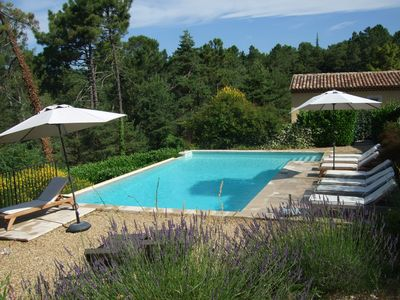 Photo for MONTAUROUX 30MN OF CANNES APARTMENT CONDITIONING TERRACE GARDEN PRIVATE POOL