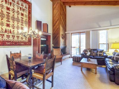 Photo for Mountain condo, close to skiing & hiking w/shared pool & hot tub