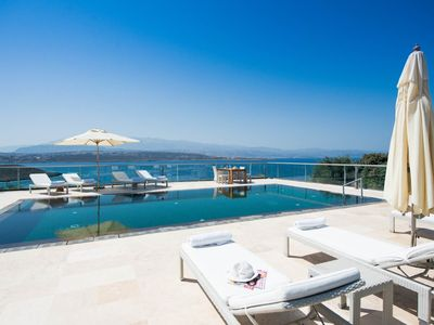 Photo for Luxurious Athena Seafront Villas, large pool a...