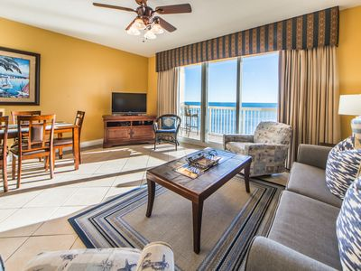 Photo for ☀Beachfront for 6! Calypso I 1007-1BR/2BA☀Bchsde Pool! Jul 21 to 24 $1161 total!