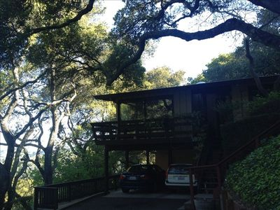 Secluded and picturesque, a feeling like one is in the tree tops!