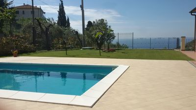 Photo for Villa with swimming pool, sleeping accommodation for 6, sea view, wide garden, a