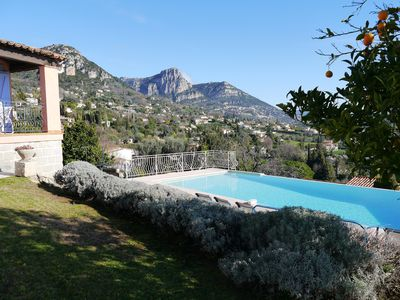 Photo for Villa with infinity pool and spectacular views. Lovely gardens. Edge of town.