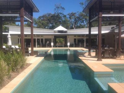 Photo for Luxury beach house- Aussie paradise in native bushland resort.Expansive pool,spa