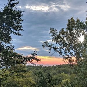 Summer sunset from the back deck.  Photo courtesy of guest Nicole B.
