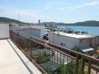 Photo for Two bedroom apartment with balcony and sea view Pirovac, Šibenik (A-11824-a)
