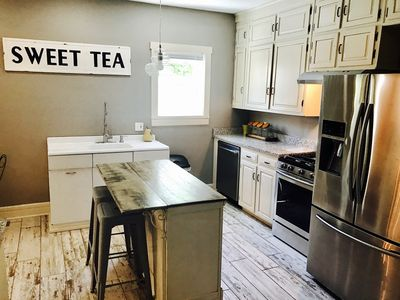 Dishwasher, stove, oven, refrigerator with ice & water, microwave, coffee pot