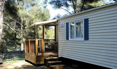 Photo for Camping La Presqu'île **** - Cottage 3 Rooms 4/6 People conditioning
