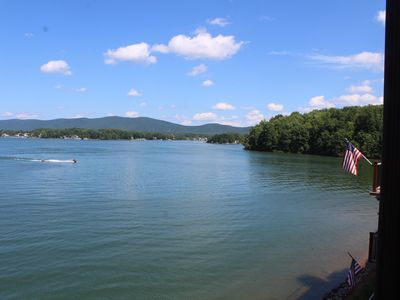 Photo for Family Friendly, Lake Front Condo on Quiet Southern Part of the Smith Mtn Lake