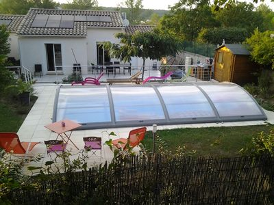 Photo for Quiet villa with pool near Montpellier and beaches