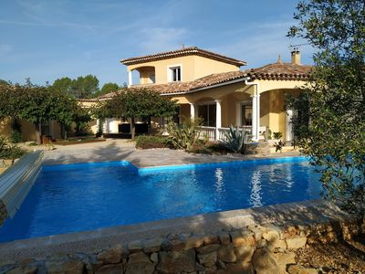 Photo for Magnificent villa 9 persons heated swimming pool in peace near sea and mountain