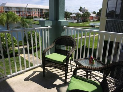 Brand New Furniture on your Private Balcony Overlooking the Water