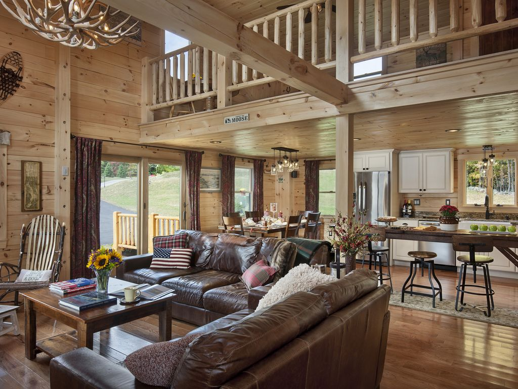 Luxury New Log Cabin On Lake Winnisquam Perfect Family