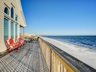 Photo for NEW LISTING! Gulf-front home features incredible views w/beach access - dogs OK!