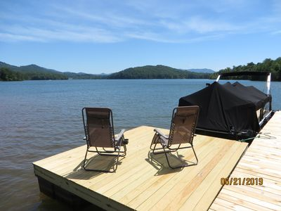 Photo for Fantastic Lake & Mountain views from this Lake home, with Private Dock !