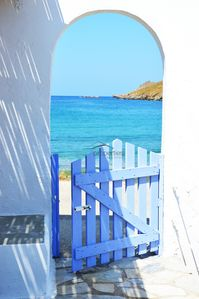 Photo for Original stone built house on the waterfront with access to a large sandy beach