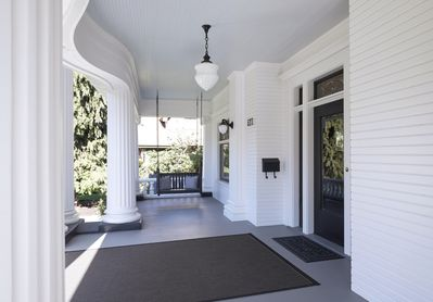 The grand front porch, built in 1909.