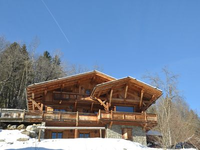 Photo for EXCEPTIONAL CHALET FACING MONT-BLANC