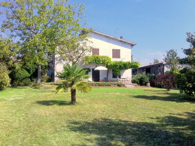 Photo for Cosy detached house, 4 km far from Lake Garda, big private garden with terrace