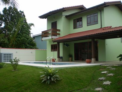 Photo for House 50 Mts Beach w / BBQ, swimming pool and 03 quarters