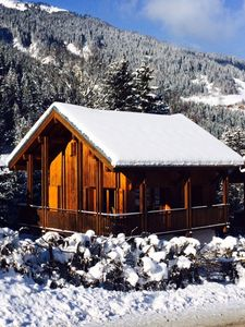 Photo for CHARMING CHALET 8 PERSONS EXCEPTIONAL PANORAMA ON THE DOME OF Miages,