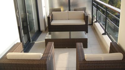 Photo for Luxury Central Cannes apartment with 2 bedrooms, balcony & pool access, parking