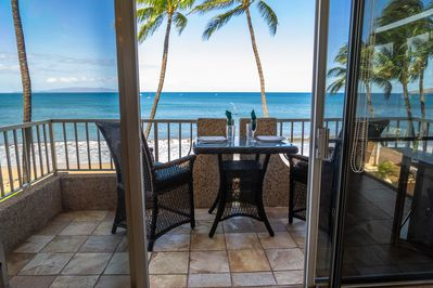 Unobstructed ocean views everywhere.Even while inside, you're right on the beach
