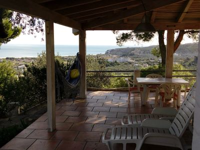 Photo for Cottage with stunning panoramic views of the Adriatic Sea in a quiet location