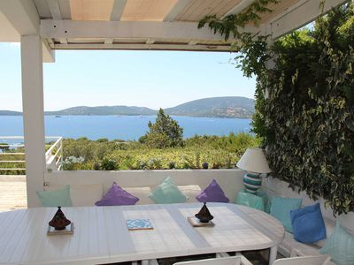 Photo for Domaine de Cala Rossa: 5 bedroom villa, panoramic sea view, terrace and jacuzzi
